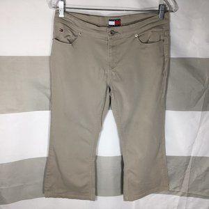 tommy hilfiger womens capri pants Shorts Tan